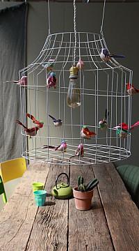 Hängelampe mit vögeln
