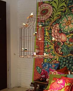 Hanglamp vogelkooi | pendant light with birds kidsroom by www.DutchDilight.com
