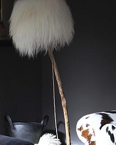 bont lampenkap  | fur lampshade by www.dutchdilight.com