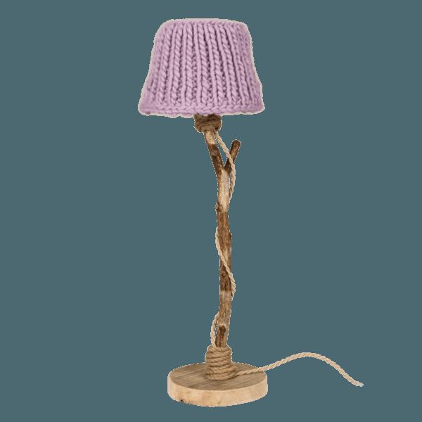Holzern Tischlampe flieder
