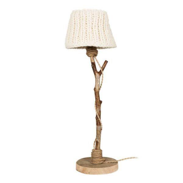 Tischlampe Holz-holzfuβ