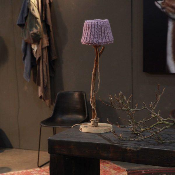 Holzern Tischlampe industriel