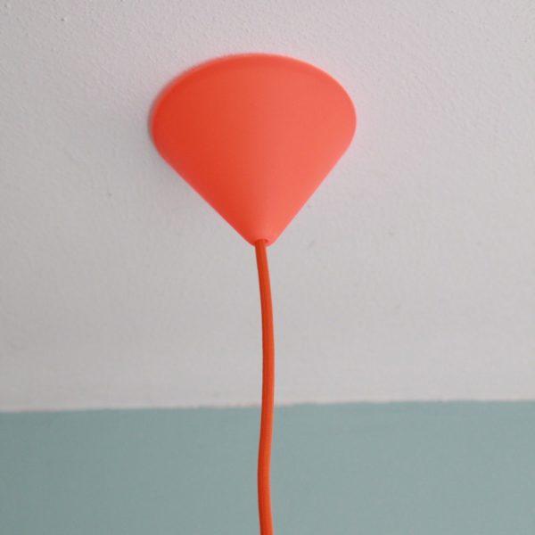 Hängelampe Vögeln orangefarben Deckenkappe