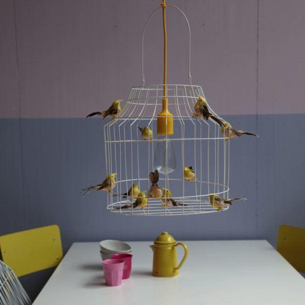 pendelleuchten Vögel gelb