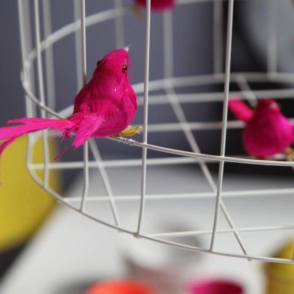Pendelleuchte Vogelkäfig fuchsia Esstisch