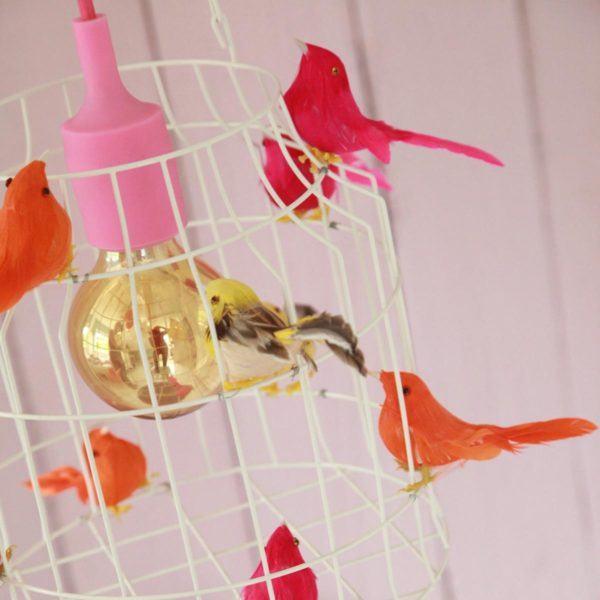 Deckenlampe mit Vögeln neon Kinderzimmer