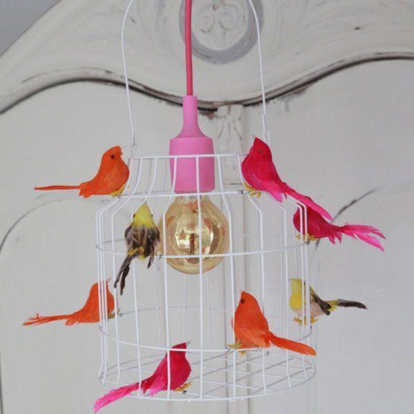 Deckenlampe mit Vögeln Madchenzimmer