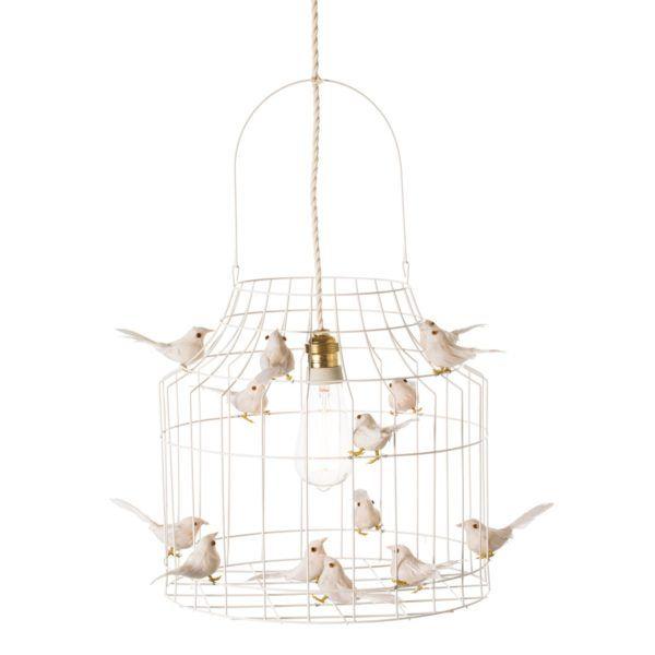 Deckenlampe weiß Vögelchen
