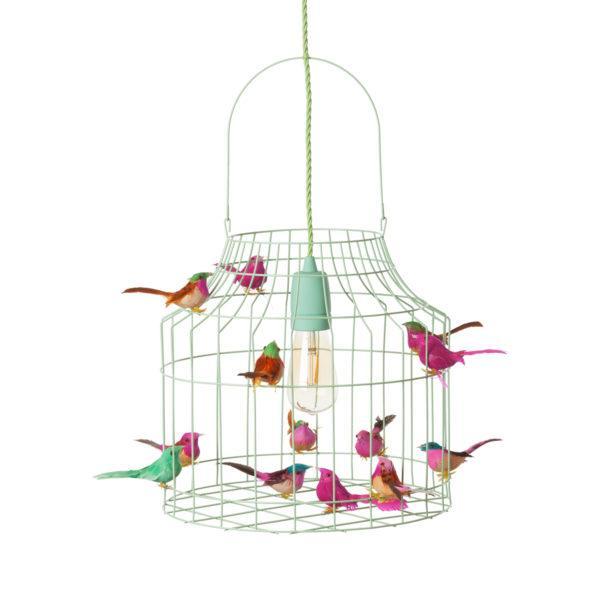 Deckenlampe Kinderzimmer minze Vögel