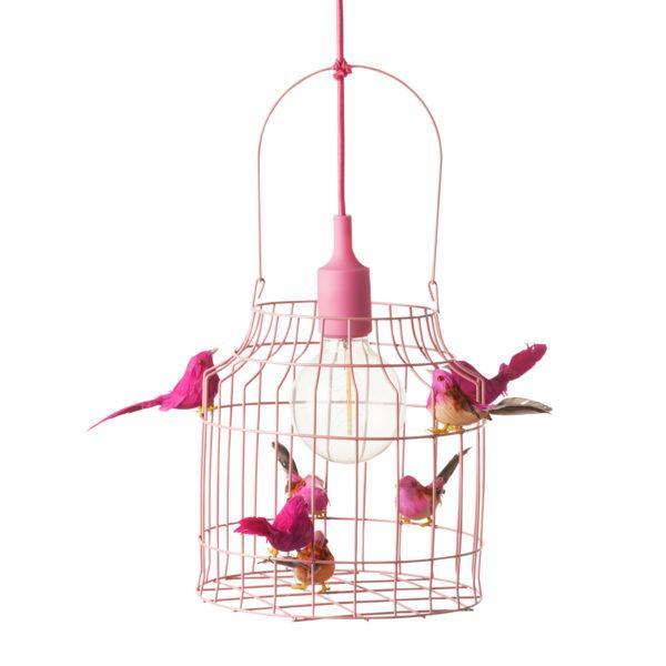 deckenlampe-kinderzimmer-rosa-Vogelkäfig