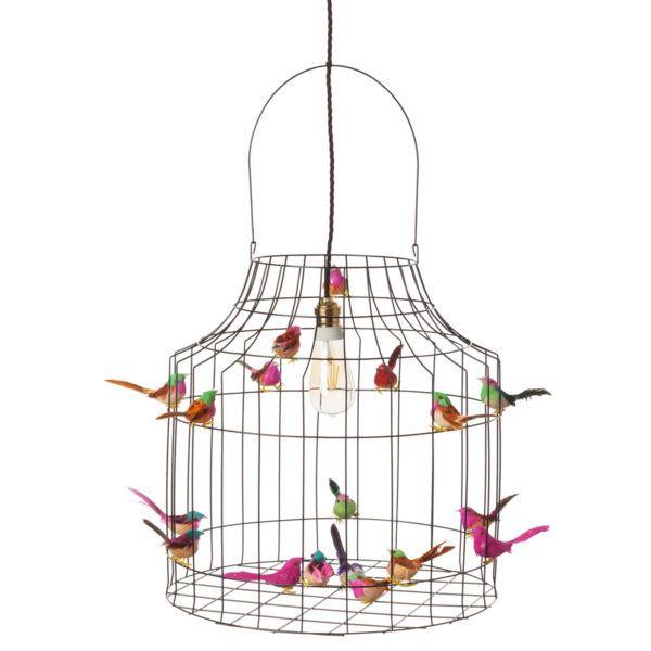 deckenlampe-schwarz-vogelkaefig