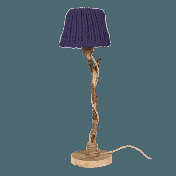 Holzern Tischlampe