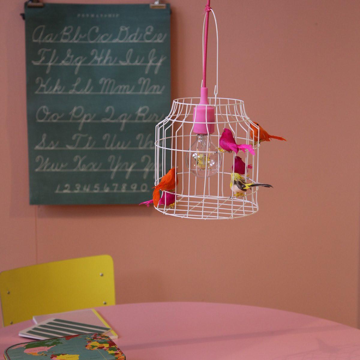 Deckenlampe mit v geln neon dutch dilight - Wandlampe madchen ...