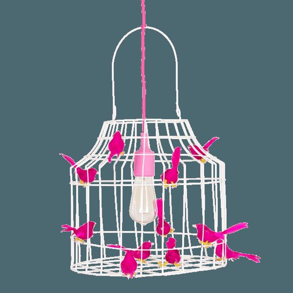 Pendelleuchte Vögeln fuchsia