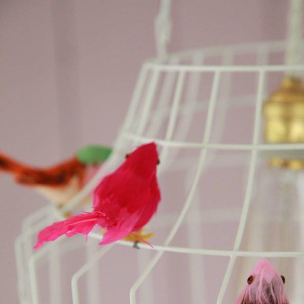 Pendelleuchte Vögel weiß Babyzimmer
