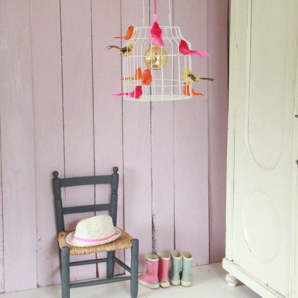 Deckenlampe Vögel Kinderzimmer neon farbig