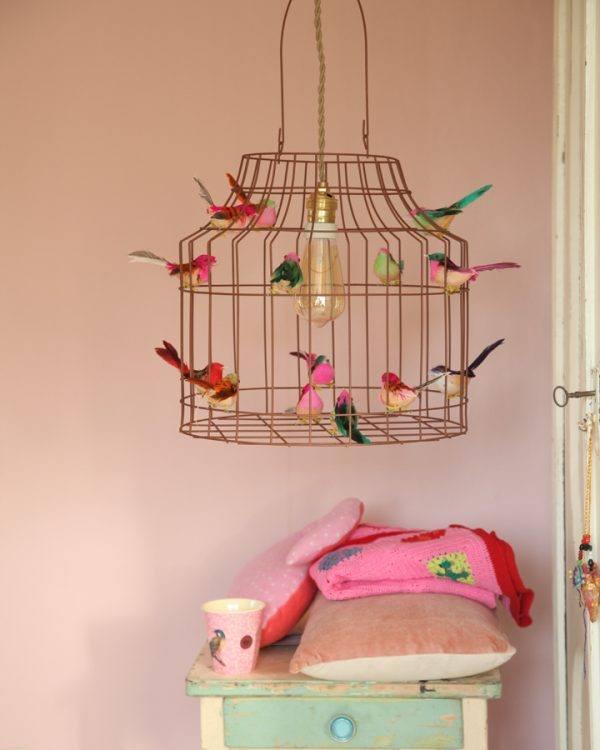 Deckenleuchte Kinderzimmer Babyzimmer Vögel Vogelkaefig