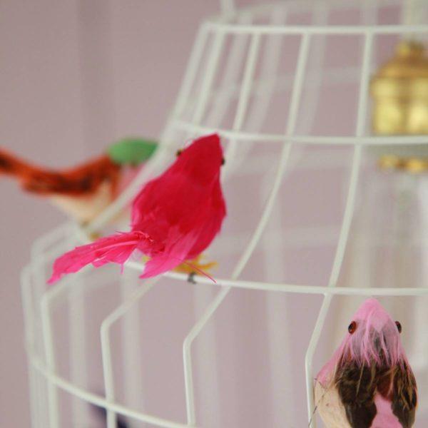 Pendellampe Vögel weiß Babyzimmer Kinderzimmer