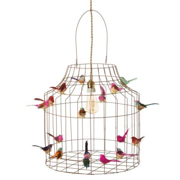 Deckenlampe KInderzimmer Babyzimmer Vögel Vogelkaefig