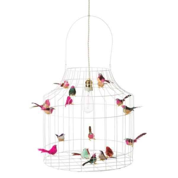 Pendellampe Vögel weiß Babyzimmer