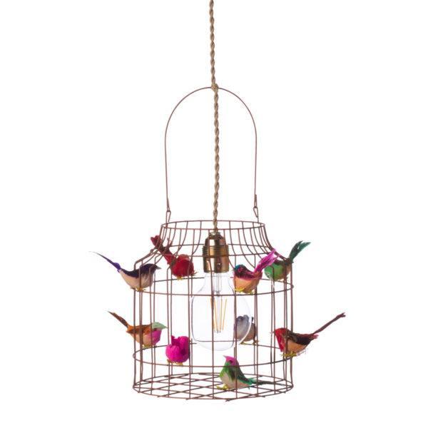 Pendelleuchte Vögel multicolor Kinderzimmer frohlich