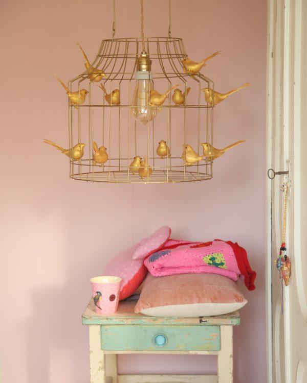 goldfarbene Pendelleuchte Babyzimmer gold