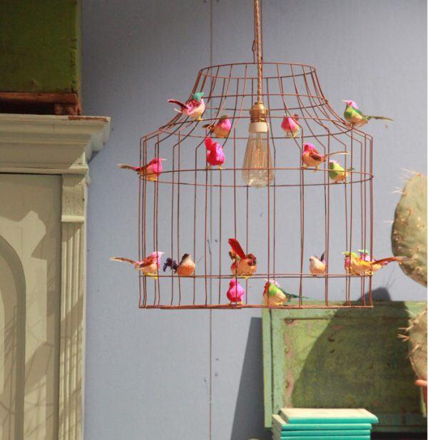 Deckenleuchte Kinderzimmer  Vögel Vogelkaefig