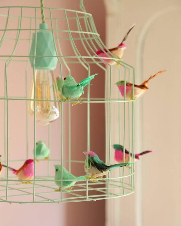 Deckenlampe Kinderzimmer minze Vögel Babyzimmer