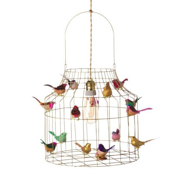 gouden hanglamp vogels